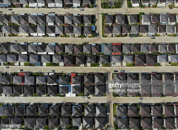 aerial view /village in town the housing of a wealthy new generation. - new generation stock pictures, royalty-free photos & images