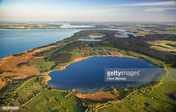 Aerial view, Waren National Park, Waren, Mecklenburg Lake District or Mecklenburg Lakeland, Mecklenburg-Western Pomerania, Germany