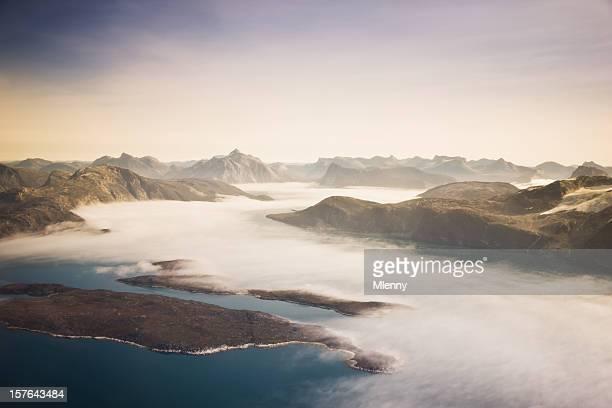 Aerial View West Greenland Coast