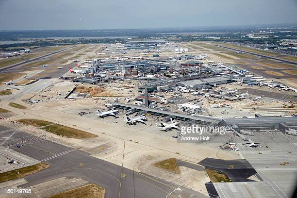 Aerial view west of Heathrow Airport