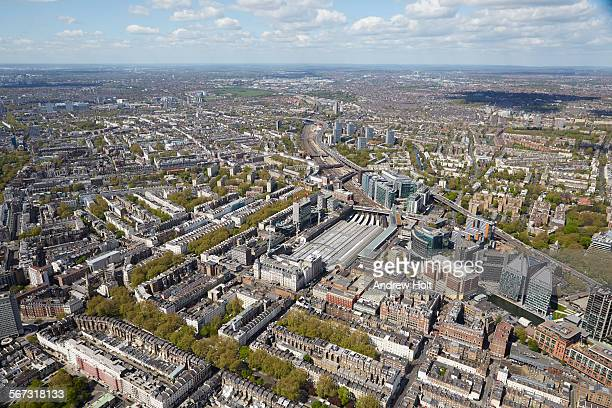 aerial view west of paddington station - st mary's hospital paddington stock pictures, royalty-free photos & images