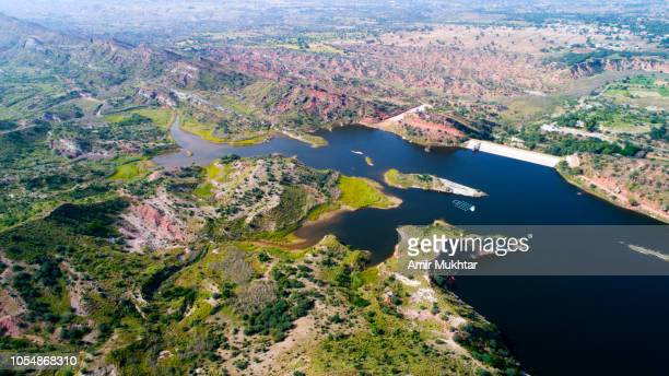aerial view with drone of water bodies - punjab pakistan stock pictures, royalty-free photos & images