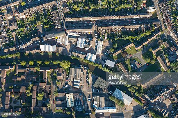 aerial view worcester, england, uk - west midlands stock pictures, royalty-free photos & images