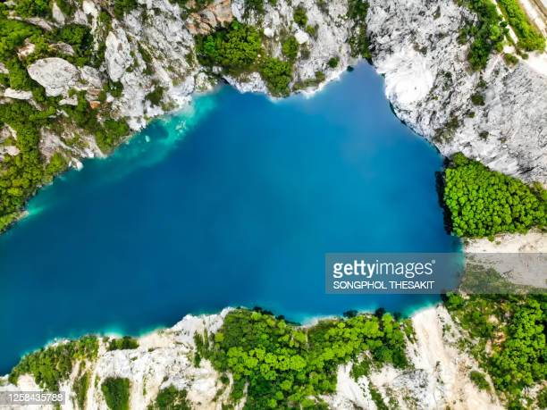 aerial view/grand canyon chonburi old mining that became a popular tourist destination - lake stock pictures, royalty-free photos & images