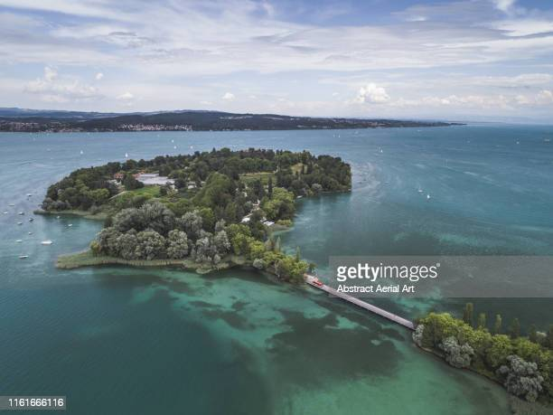 aerial views across lake konstanz, bavaria, germany - bodensee stock-fotos und bilder