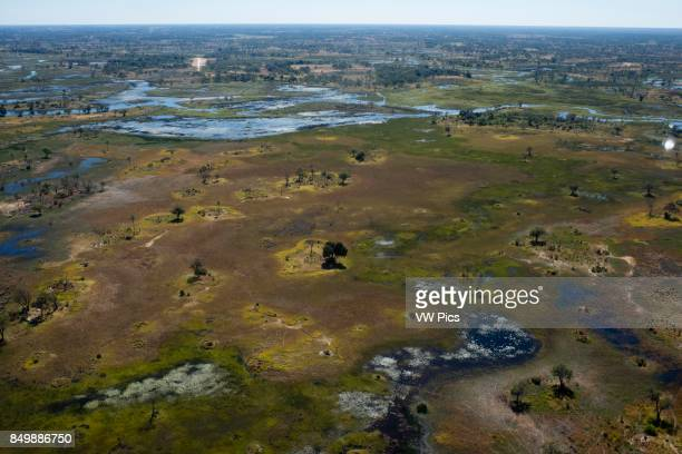 Aerial views from Camp Savute Elephant Camp by Orient Express in Botswna in Chobe National Park and Camp Camp Eagle Island Camp by Orient Express...