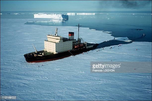 Aerial views in Antartica in 1997 Icebreaker Kapitan Klebnikov