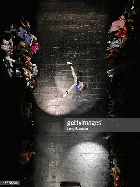 Aerial Views of Betsey Johnson fashion show during Spring 2016 New York Fashion Week The Shows on September 11 2015 in New York City