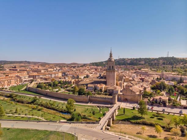 Aerial views of Burgo de Osma city.