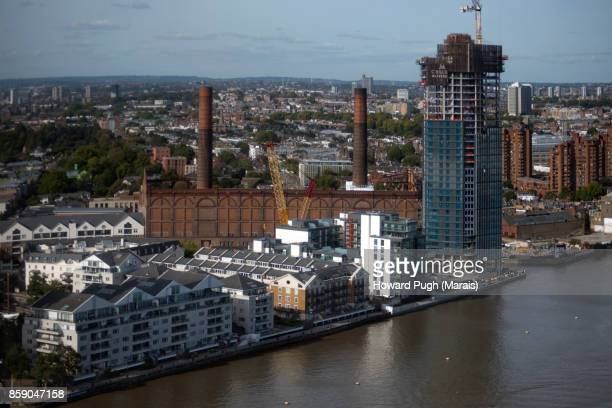 Aerial views of Chelsea. Helicopter Zone