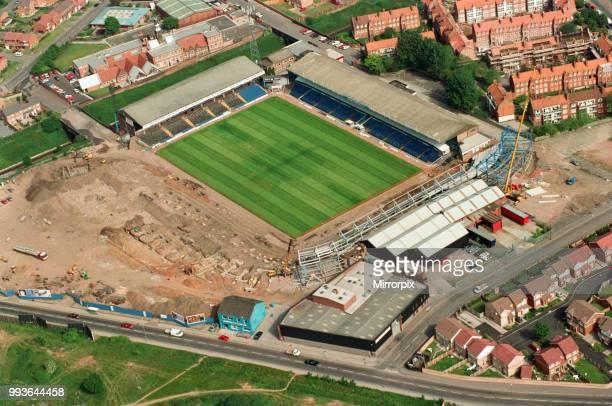 Aerial views of St Andrew's Stadium, Birmingham, taken from the BRMB Flying Eye, 15th June 1994.