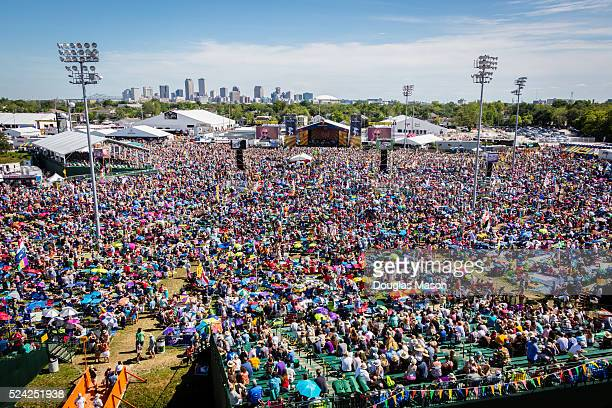 Aerial Views of the Accura Stage at the New Orleans Jazz Heritage Fesival 2016 at Fair Grounds Race Course on April 24 2016 in New Orleans Louisiana