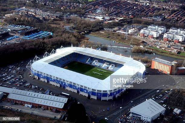 Aerial Views of the King Power Stadium on January 29 2016 in Leicester United Kingdom