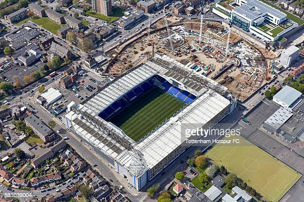 Aerial Views of the New Tottenham Hotspur Stadium development at White Hart Lane on May 6 2016 in London England