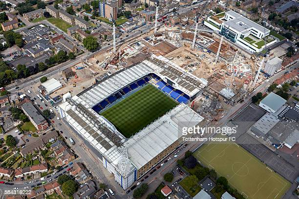 Aerial Views of the White Hart Lane Stadium Development at White Hart Lane on July 21 2016 in London England