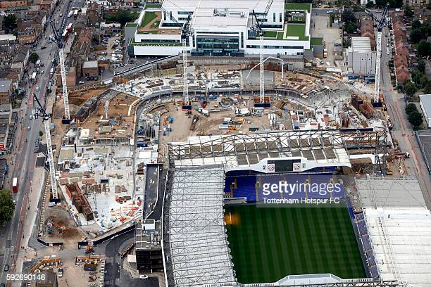 Aerial Views of the White Hart Lane Stadium Development at White Hart Lane on August 11 2016 in London England