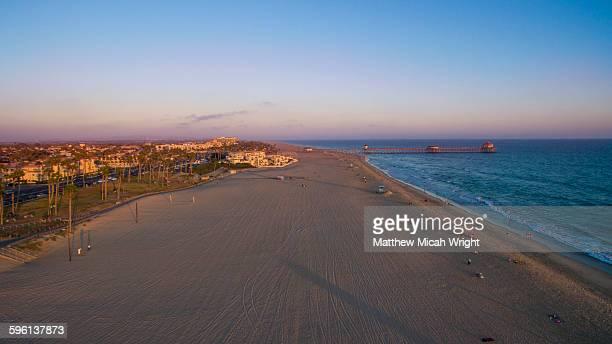 Aerial views over the Huntington Beach.