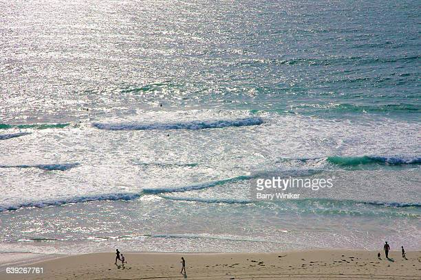 aerial view,salt creek beach at monarch bay, ca - laguna niguel stock pictures, royalty-free photos & images