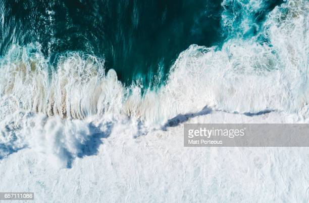 Aerial vision, drone capture of the North Shore Oahu, Hawaii.