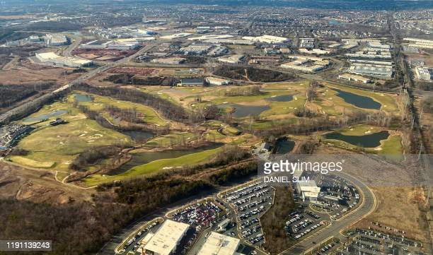 Aerial vue of the 1757 Golf club located just a few minutes from Washington Dulles International Airport northern Virginia on December 31 2019