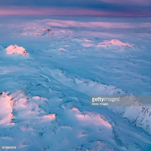 Aerial - Winter landscape, Vatnajokull National Park, Iceland