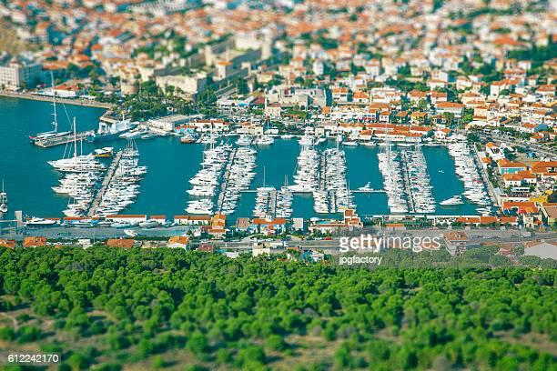 Aerial Yacht Marina