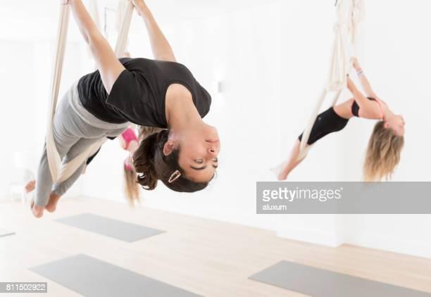 Aerial yoga class for children