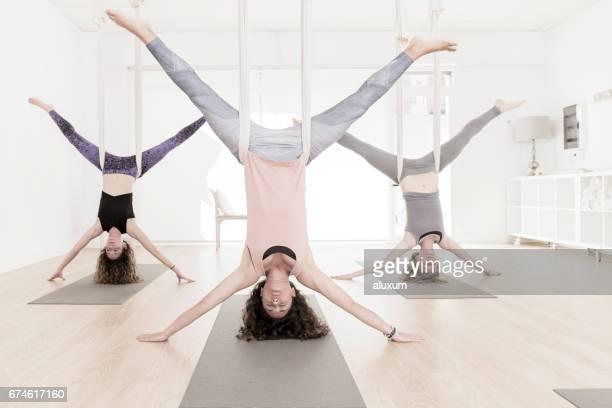 Aerial Yoga class