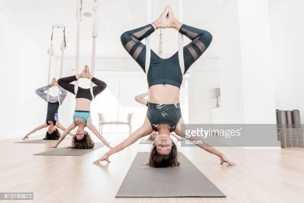 Aerial yoga exercises