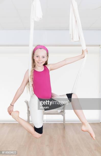 Aerial yoga for children