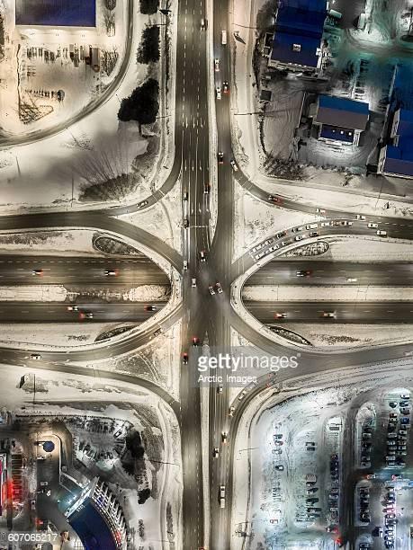 Aerial-highways in the winter, Reykjavik