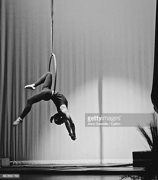 Aerialist Performing On Hoop