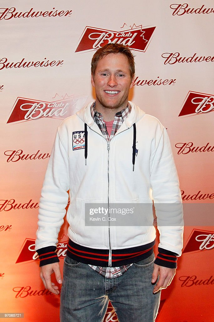 Aerialist skiier Jeret Peterson arrives at the Club Bud Budweiser Party on February 25, 2010 at the Commodore Ballroom in Vancouver, Canada.
