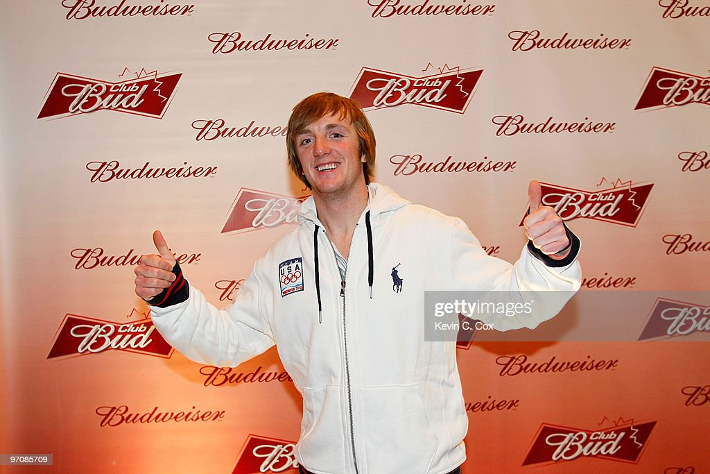 Aerialist skiier Scotty Bahrke arrives at the Club Bud Budweiser Party on February 25, 2010 at the Commodore Ballroom in Vancouver, Canada.