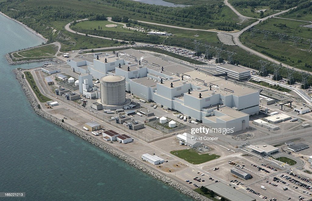 Aerials of Darlington Nuclear Plants. It will cost Ontarians $46 billion to whip the province's trou : News Photo
