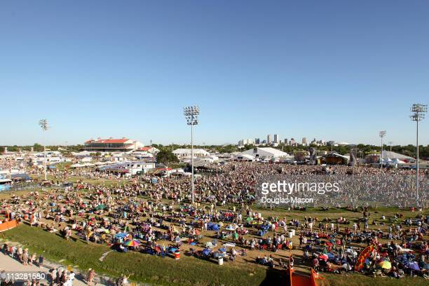 Aerials of the 2011 New Orleans Jazz Heritage Festival presented by Shell at Fair Grounds Race Course on April 29 2011 in New Orleans Louisiana
