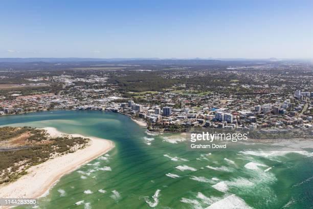 aerials view of sunshine coast - sunshine coast australia stock pictures, royalty-free photos & images