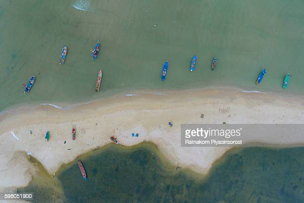 Aeriel View of Songkhla Beach with Fisherman Village