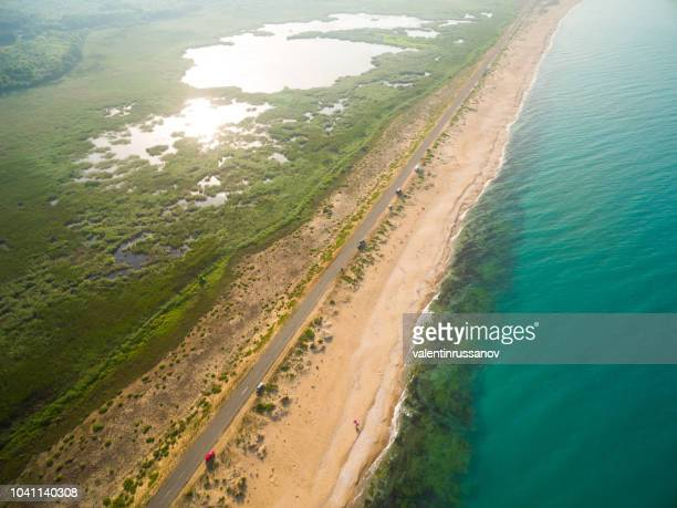 aerila view of the coastline - coastline stock pictures, royalty-free photos & images