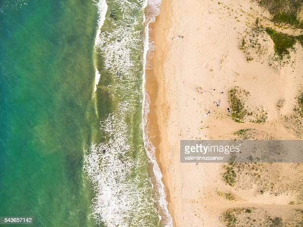 aerila view of the coastline - coastline stock pictures, royalty-free photos & images