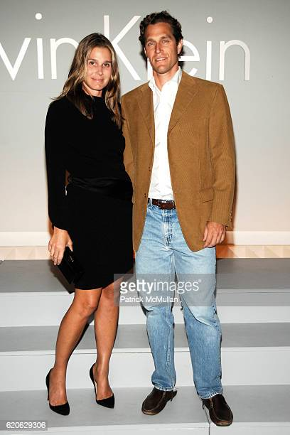 Aerin Lauder and Eric Zinterhofer attend CALVIN KLEIN INC Celebrates Milestone 40th Anniversary at the High Line on September 7 2008 in New York City