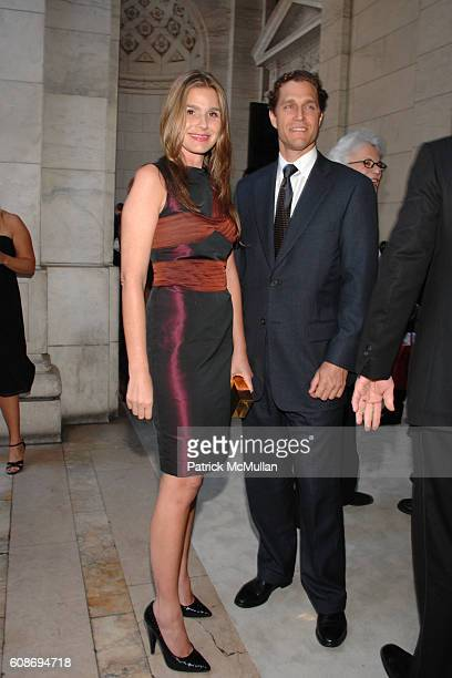 Aerin Lauder and Eric Zinterhofer attend The 2007 CFDA Fashion Awards at The New York Public Library on June 4 2007 in New York City
