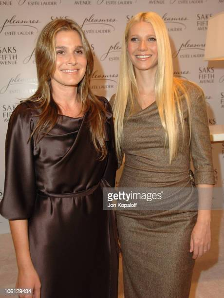 Aerin Lauder and Gwyneth Paltrow during Estee Lauder Launches 'Pleasures by Gwyneth Paltrow' Press Conference at Saks Fifth Avenue in Beverly Hills...