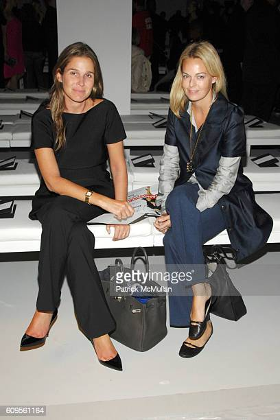 Aerin Lauder and Lauren Dupont attend CALVIN KLEIN COLLECTION Spring 2008 Fashion Show at Calvin Klein Inc on September 11 2007 in New York City