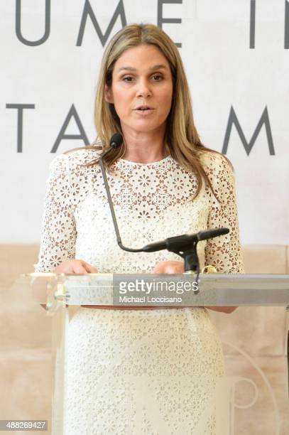 Aerin Lauder Founder and Creative Director of AERIN speaks onstage at the Anna Wintour Costume Center Grand Opening at the Metropolitan Museum of Art...
