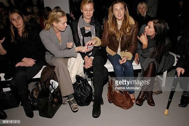 Aerin Lauder Lauren DuPont Renee Rockefeller Amanda Cutter Brooks and Allison Sarofim attend CALVIN KLEIN COLLECTION Fall 2007 Fashion Show at Calvin...