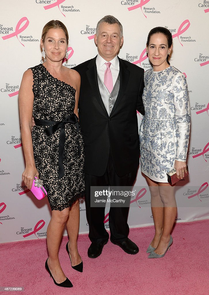 Aerin Lauder, William Lauder and Jane Lauder attend The Breast Cancer Foundation's 2014 Hot Pink Party at Waldorf Astoria Hotel on April 28, 2014 in New York City.