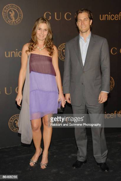 Aerin Lauder Zinterhofer wearing Marc Jacobs and Eric Zinterhofer arrives at A Night to Benefit Raising Malawi and UNICEF hosted by Madonna and Gucci...