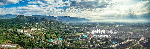 Aero photo of the Luofu Mountain in Sichuan Province, China
