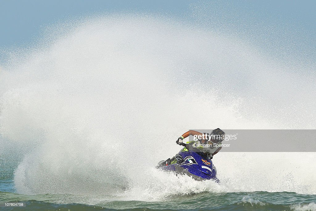 Aero Sutan Aswar of India competes in the Jetski at Al-Musannah Sports City during day eight of the 2nd Asian Beach Games Muscat 2010 on December 15, 2010 in Muscat, Oman.